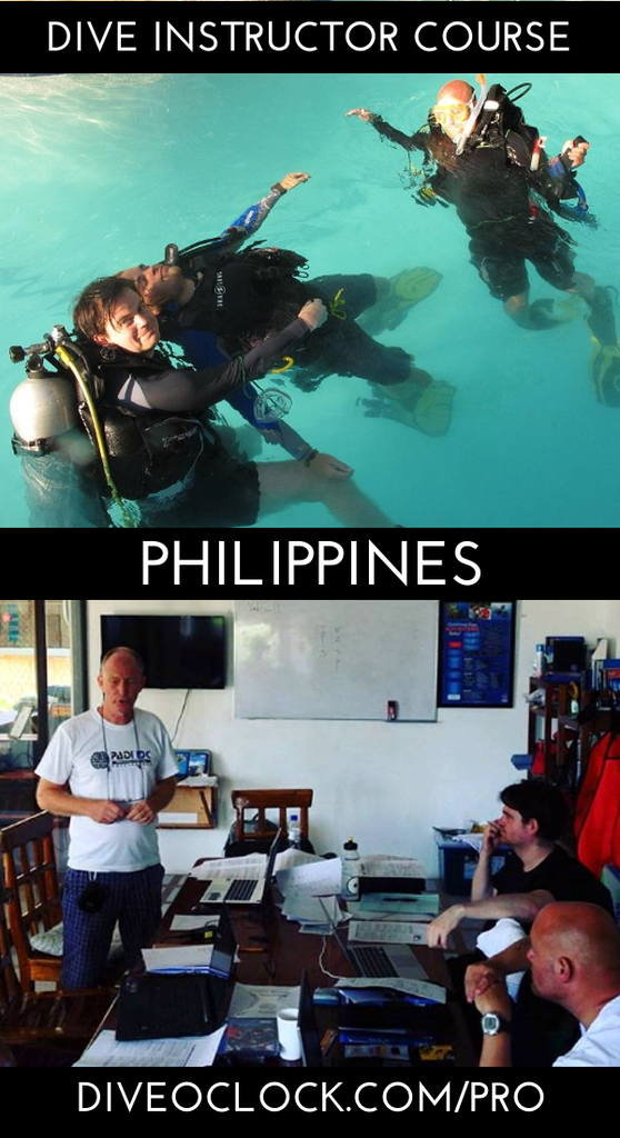 PADI Dive Instructor Course - Moalboal, Philippines