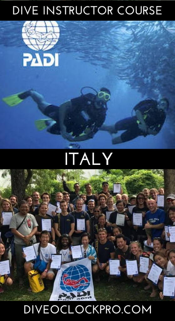 PADI Dive Instructor Course - PORTO CESAREO - Protected Marine Area, Italy